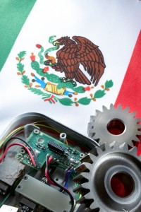 Mexican Flag with Gears